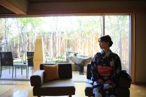 Nagomi no Yado-KAKUJORO is located in the heart of the scenic Atsumi Peninsula.