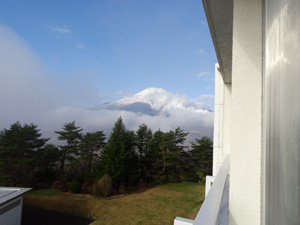Mt.Fuji from hotel room view